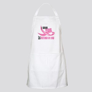 I Wear Pink For My Mother-In-Law 33 BBQ Apron