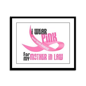 I Wear Pink For My Mother-In-Law 33 Framed Panel P