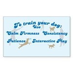 Train Your Dog Rectangle Sticker 10 pk)