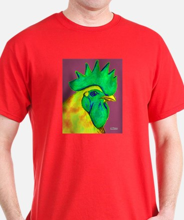 Green/Yellow Rooster T-Shirt