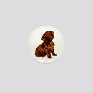 Shorthaired Dachshund Mini Button