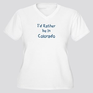 Rather be in Colorado Women's Plus Size V-Neck T-S