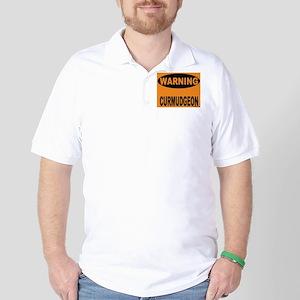 Curmudgeon Warning Golf Shirt