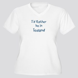 Rather be in Iceland Women's Plus Size V-Neck T-Sh