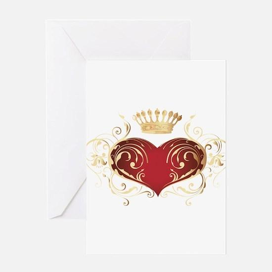 Royal Heart Greeting Card