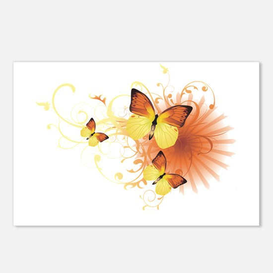 Yellow Butterflies Postcards (Package of 8)