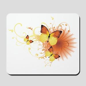 Yellow Butterflies Mousepad