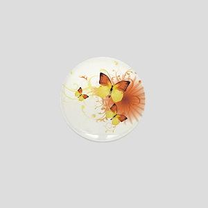 Yellow Butterflies Mini Button