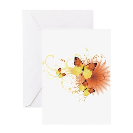 Yellow Butterflies Greeting Card