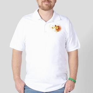 Yellow Butterflies Golf Shirt