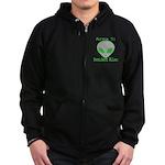 Area 51 Resident Alien Zip Hoodie (dark)