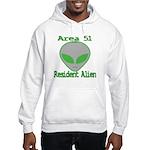 Area 51 Resident Alien Hooded Sweatshirt