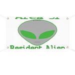 Area 51 Resident Alien Banner