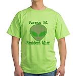 Area 51 Resident Alien Green T-Shirt