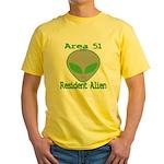 Area 51 Resident Alien Yellow T-Shirt