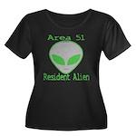 Area 51 Resident Alien Women's Plus Size Scoop Nec