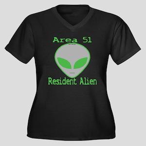 Area 51 Resident Alien Women's Plus Size V-Neck Da