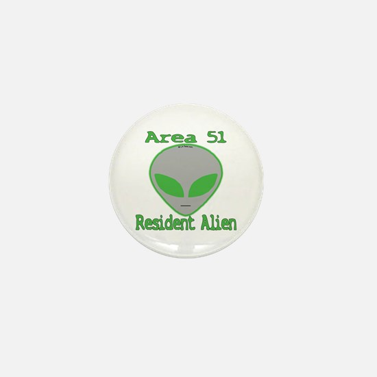 Area 51 Resident Alien Mini Button