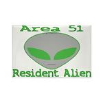 Area 51 Resident Alien Rectangle Magnet (10 pack)