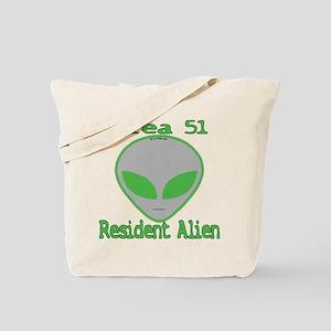Area 51 Resident Alien Tote Bag