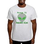 Area 51 Resident Alien Light T-Shirt