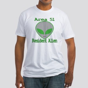Area 51 Resident Alien Fitted T-Shirt