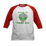 Area 51 Resident Alien Kids Baseball Jersey