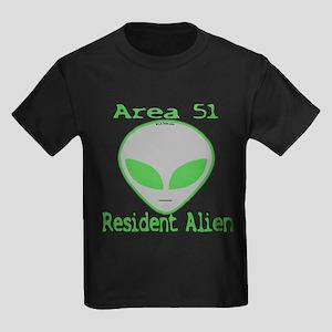 Area 51 Resident Alien Kids Dark T-Shirt