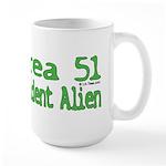 Area 51 Resident Alien Large Mug