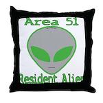 Area 51 Resident Alien Throw Pillow