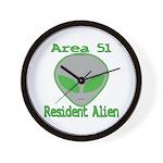 Area 51 Resident Alien Wall Clock