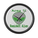 Area 51 Resident Alien Large Wall Clock
