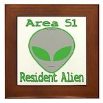 Area 51 Resident Alien Framed Tile