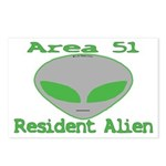 Area 51 Resident Alien Postcards (Package of 8)