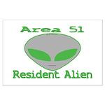 Area 51 Resident Alien Large Poster