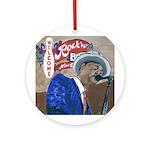 New OrleansBlues Singer Art Ornament (Round)