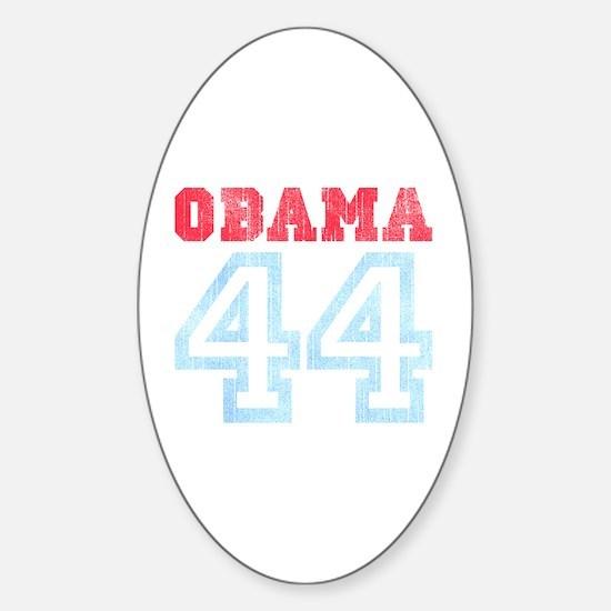 OBAMA 44 Oval Decal