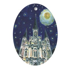 Starry Night Cathedral Painting Ornament