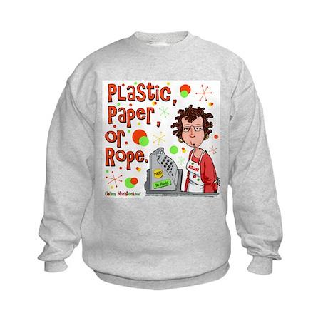 Plastic, Paper or Rope Kids Sweatshirt