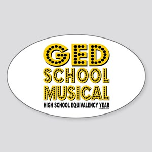 HIGH SCHOOL MUSICAL PARODY Oval Sticker