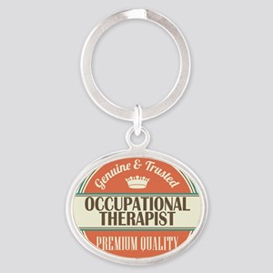 occupational therapist vintage logo Keychains