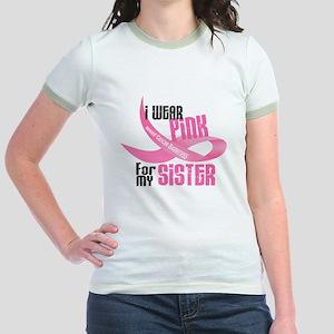 I Wear Pink For My Sister 33 Jr. Ringer T-Shirt