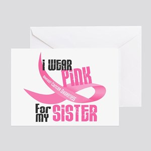 I Wear Pink For My Sister 33 Greeting Card