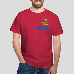 Top Police Officer Retired Dark T-Shirt