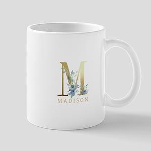 Gold Foil Monogram Name Mugs