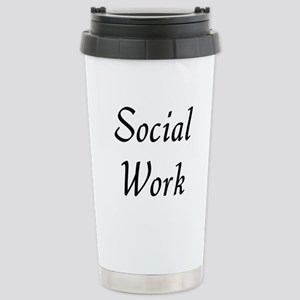 Social Work (black) Stainless Steel Travel Mug