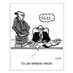 Office Cartoon 2589 Small Poster