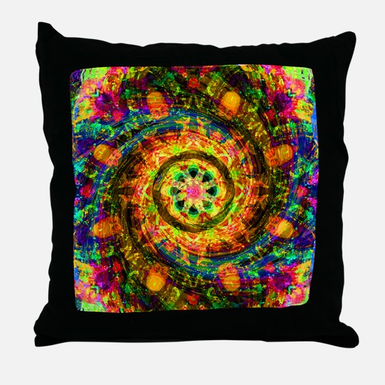 Yellow Painted Gift Set Throw Pillow