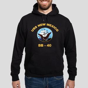 USS New Mexico BB 40 Hoodie (dark)