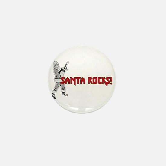 Santa Rocks Mini Button